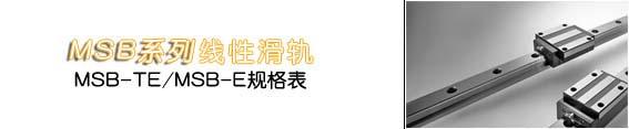 MSB-TE直线导轨-台湾AMT直线导轨