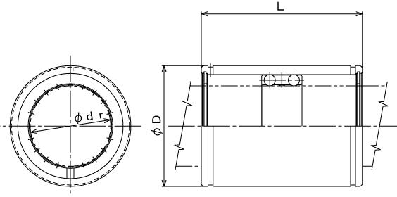ST滚珠导套-日本THK轴承-THK直线轴承-THK滚珠导套