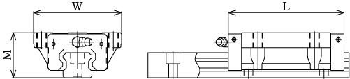 SHS-C直线导轨图解-THK直线导轨