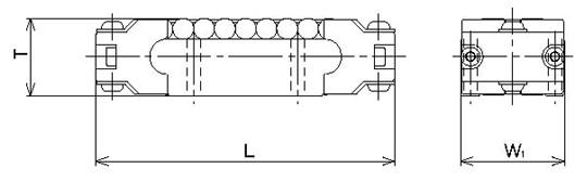 LRU型滚柱滚动块